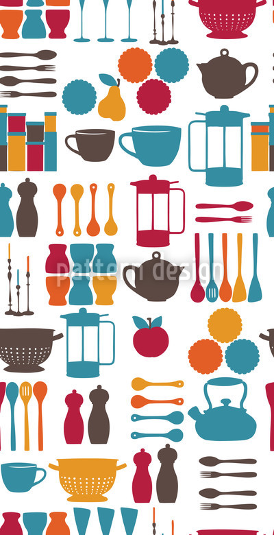 Kitchen Fairy Blue Pattern Design