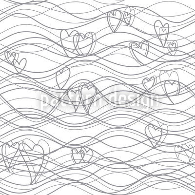 Wellenlängen Weiss Designmuster