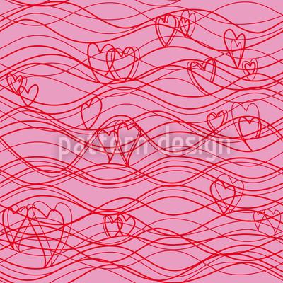 Wellenlängen Pink Nahtloses Muster