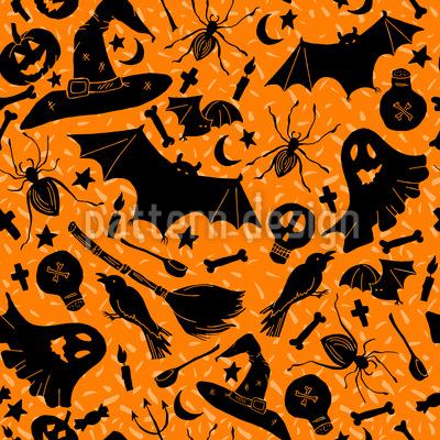 Halloween Witchcraft Seamless Vector Pattern Design
