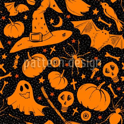 Dark Halloween Repeat Pattern