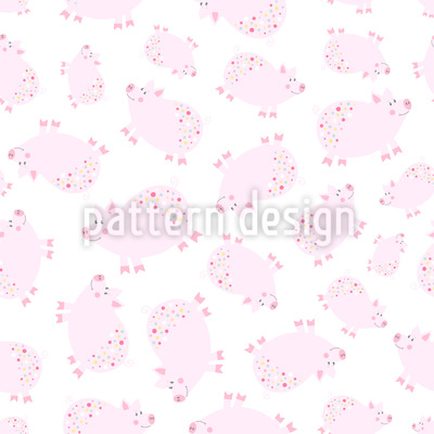 Cute Piglets Vector Ornament