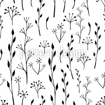 Zweige und Blätter Silhouetten Designmuster
