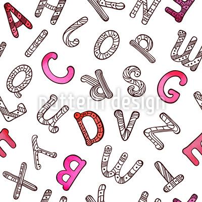 Letras Do Alfabeto Design de padrão vetorial sem costura