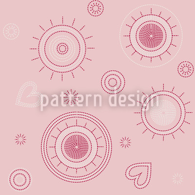 Liebe Punktgenau Nahtloses Muster