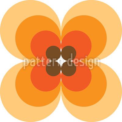Kultige 60er Jahre Blume Nahtloses Vektormuster