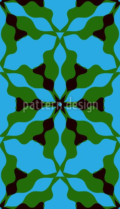 Wellenförmige Blumensymmetrie Rapportmuster