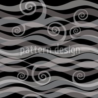 Triton Schwarz Nahtloses Vektor Muster