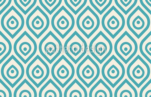 Pavão Art Deco Design de padrão vetorial sem costura