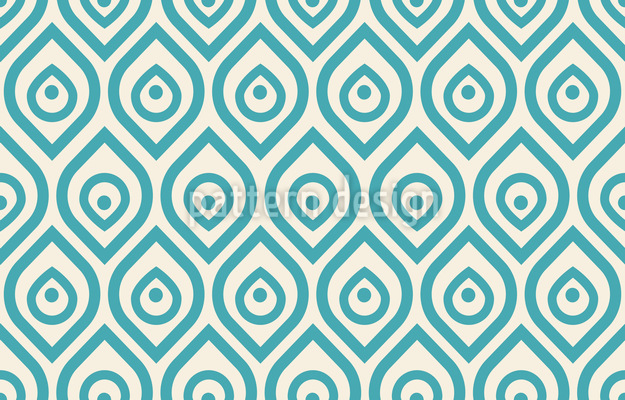 Art Deco Peacock Seamless Vector Pattern Design