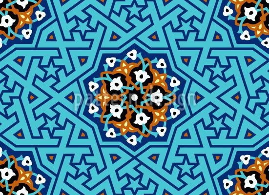 Türkisches Sterngitter Musterdesign