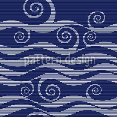 Wellen und Schnörkel Muster Design