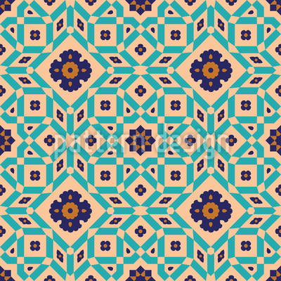 Old Town Riad Vector Pattern