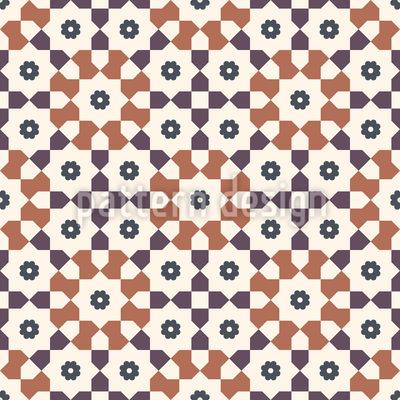 Banho marroquino Design de padrão vetorial sem costura