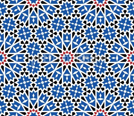 Mosaico magnífico Design de padrão vetorial sem costura