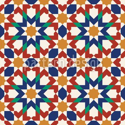 Moorish Art Seamless Vector Pattern Design
