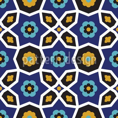 Moorish Flower Repetition Pattern Design
