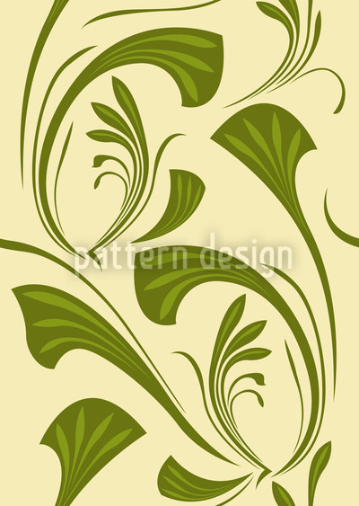 Vivienne Green Seamless Pattern