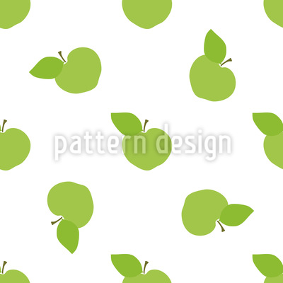 Junge Äpfel Ernten Vektor Ornament