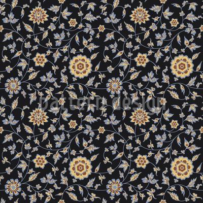 Persian Summer Seamless Vector Pattern Design