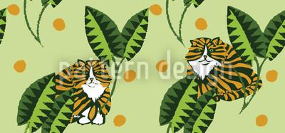 Bush Tiger Vector Ornament