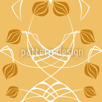 Arwens Dream Gold Seamless Vector Pattern