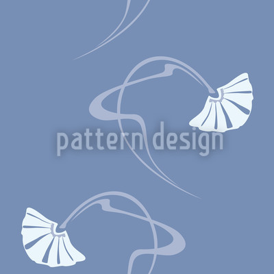 Burlesque Blau Rapportiertes Design