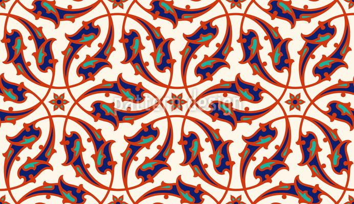 Renascimento Italiano Design de padrão vetorial sem costura