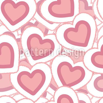 Herzhaufen Rapportiertes Design