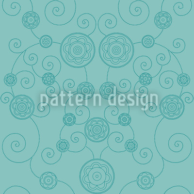 Irana In The Ocean Seamless Vector Pattern Design