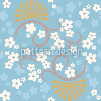 Eastern Magic Blue Vector Ornament