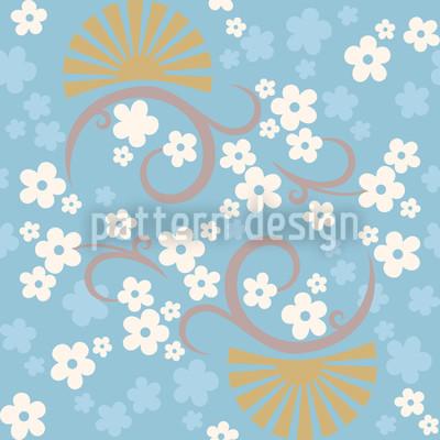 Zauber Des Ostens Blau Vektor Ornament
