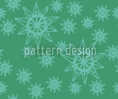 Stars On Wire Seamless Pattern