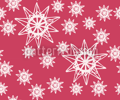 Stars On Wire Red Seamless Vector Pattern