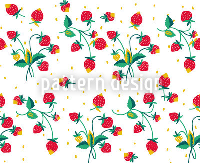 Strawberry Fields Forever Vector Pattern