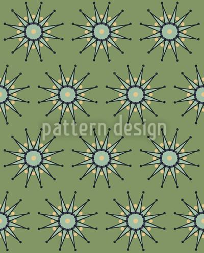 Sterne In Grün Rapportiertes Design