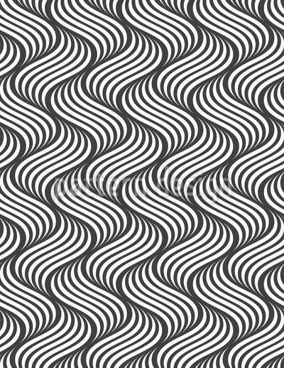 S Waves Seamless Vector Pattern Design