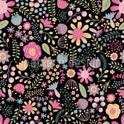 Floral Diversity Seamless Vector Pattern Design
