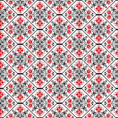 Tesselação Romena Design de padrão vetorial sem costura