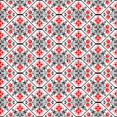 Romanian Tessellation Vector Ornament