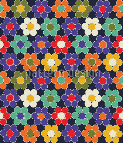 Thousand Flowers Seamless Vector Pattern Design
