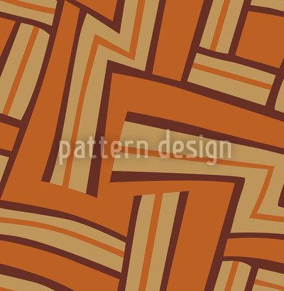 Labyrinth Braun Designmuster