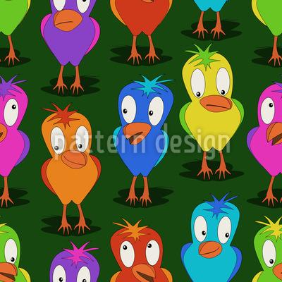 Nette Paradiesvögel Designmuster
