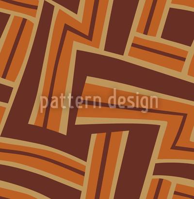 Maze Rusty Seamless Pattern