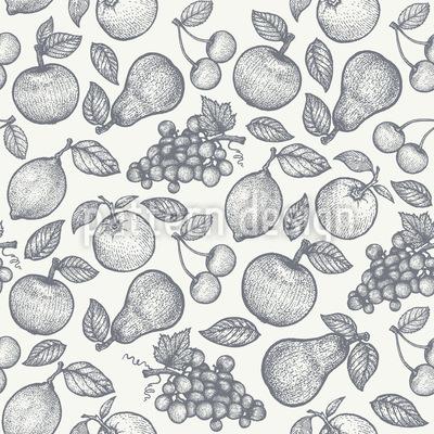 Frutas saborosas Design de padrão vetorial sem costura