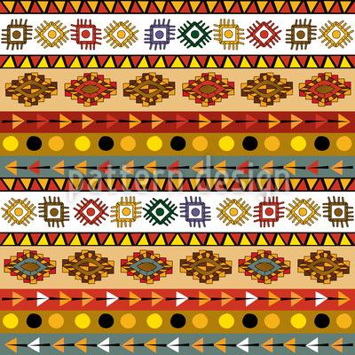 Maya-Stamm Nahtloses Vektormuster