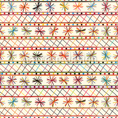 陽気な部族 シームレスなベクトルパターン設計