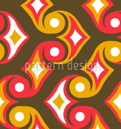 Orange Arrows Pattern Design