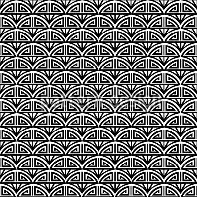 Samurai Black And White Design Pattern