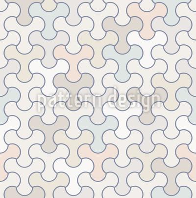 Tesselação Inquietação Design de padrão vetorial sem costura